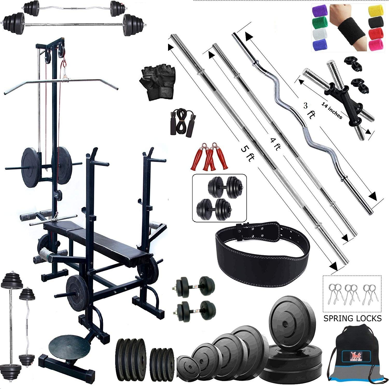 Bodyfit Combo Home Gym And Fitness Kit